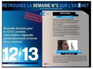 Le premier journal régional télévisé interactif en France.