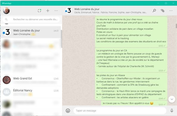 Fils Whatsapp antenne Lorraine